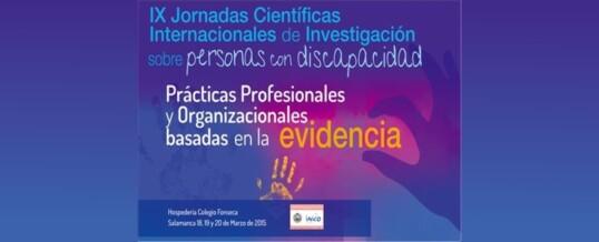 IX JORNADAS CIENTIFICAS INTERNACIONALES SOBRE DISCAPACIDAD